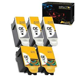 Cartlee Set of 5 Compatible 30xl High Yield Ink Cartridges f