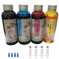 4PK 100ML Edible Ink Bottles Refill kit PGI-250 PGI-225 PGI-