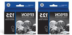 Genuine Epson 125  Black Ink Cartridge 2-Pack