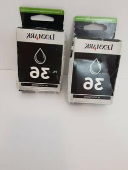 Lexmark Genuine 36 Black 2PK Ink Cartridges Nice Box X3630,X