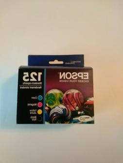 Epson Genuine Multi- Pack 125 B, C, M, Y 4-Pack of Ink Cartr