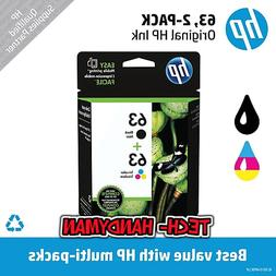 GENUINE SEALED HP 63 BLACK / COLOR INK CARTRIDGES LOR46AN#14