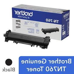 Brother Genuine High Yield Toner Cartridge, TN760, Replaceme