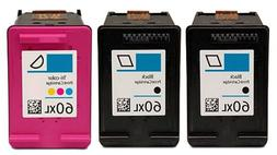 Axiom 3Pack Premium Remanufactured HP 60XL Black & Color Ink