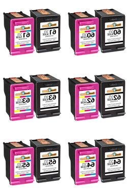 Ink Cartridge Combo For HP 60XL 61XL 62XL 63XL 64XL 65XL Wit