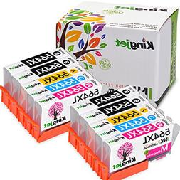 Kingjet Compatible Ink Cartridge Replacement for 564XL Work