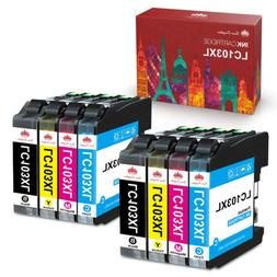 8pk Ink Cartridges For Brother LC103XL MFC-J870dw J470DW MFC