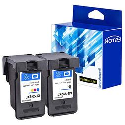 ESTON Ink Cartridges PG-245XL 245 XL CL-246XL 246 XL, Black