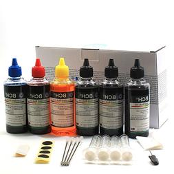 BCH® Standard 600 ml Refill Ink Kit for all printers: HP Ca