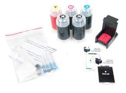 InkPro Black & Tri-Color Ink Refill Box Kit for HP 60, 60XL,