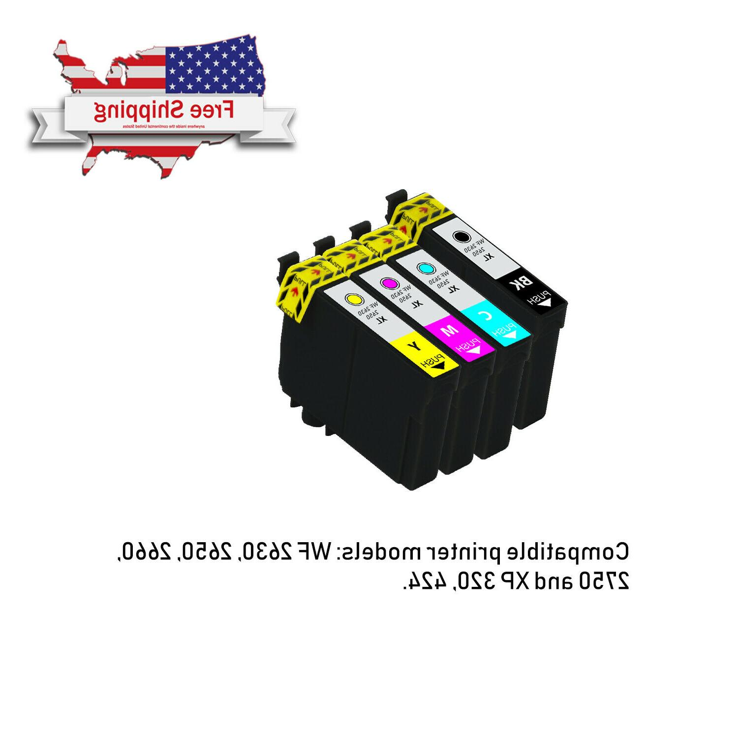 4pk compatible ink cartridges for epson workforce