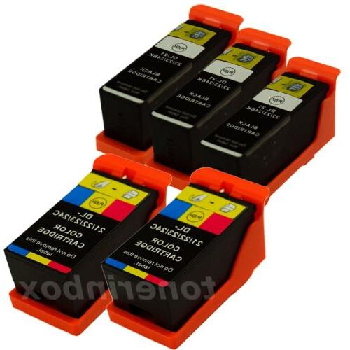 5 pack new ink cartridges for dell