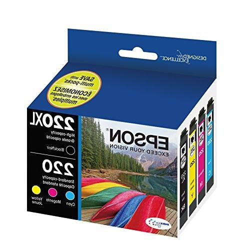 Epson T220XL-BCS Ink, 4 Pack, Magenta,