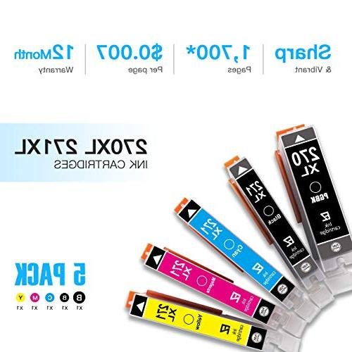 E-Z Compatible Ink Cartridge Replacement for PGI-270XL CLI-271XL XL to use PIXMA MG6820