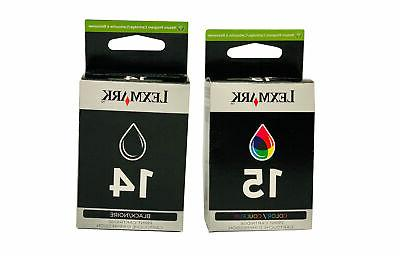 genuine 14 black and 15 color ink