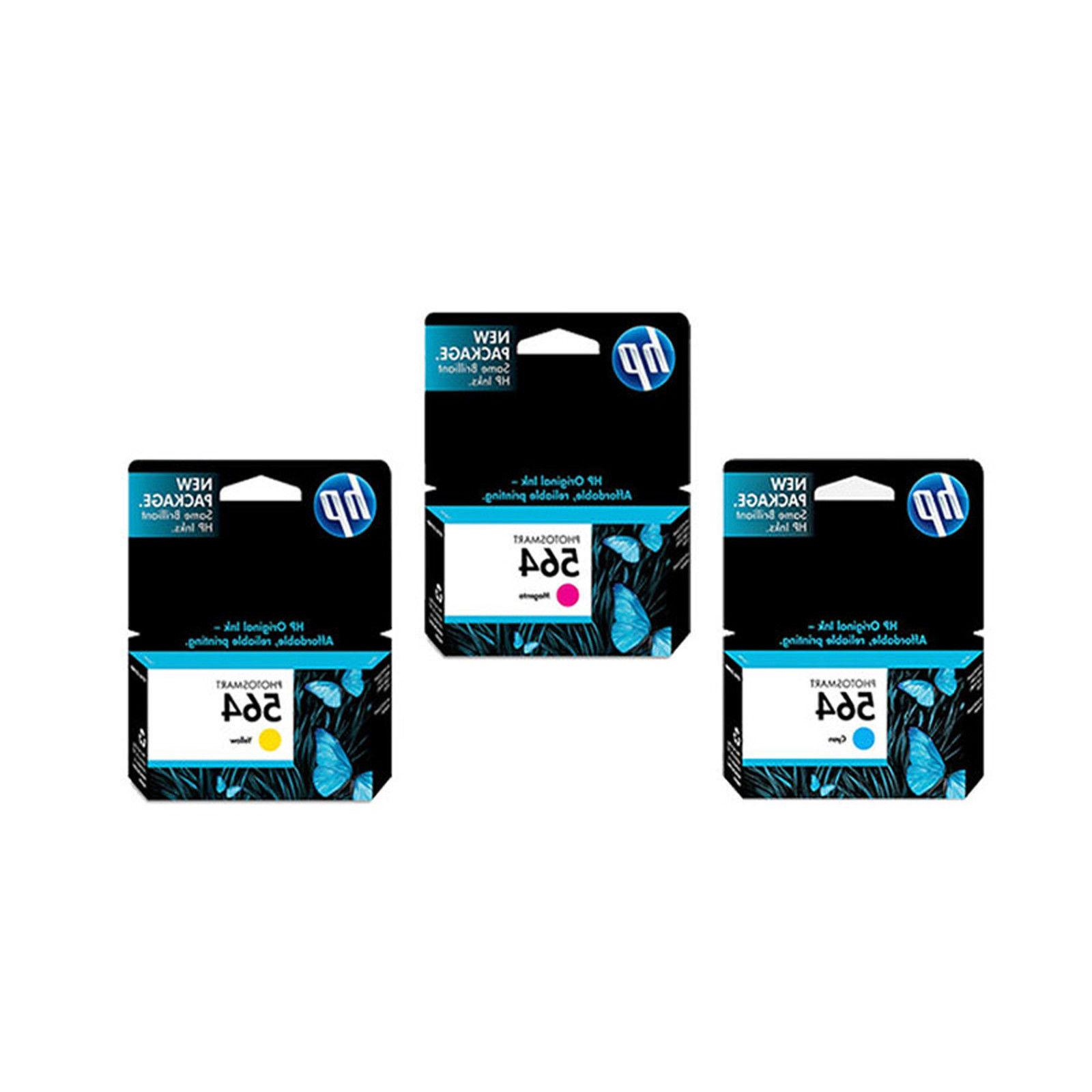 3 Pack Genuine HP Combo Set CB319WN Ink