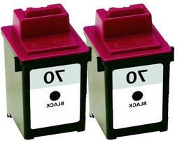 Axiom 2Pack Remanufactured Lexmark 12A1970 #70 Black Ink Car