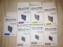 LOT OF 7 REFILLED EPSON INK CARTRIDGES  T200XL ,420,120,220,
