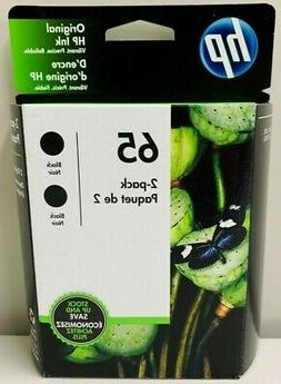 New Genuine HP 65 Black Ink Cartridges 2PK Deskjet 2510 2511