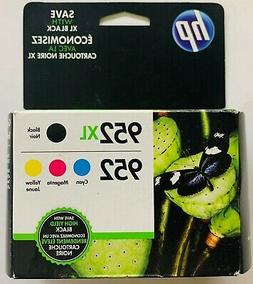 NEW Genuine HP 952XL Black & 952 Cyan, Magenta, Yellow Ink C