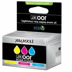 Lexmark No.100Xl Combo Pack Ink Cartridge - Cyan/Magenta/Yel