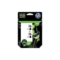 HP No. 61 Ink Cartridge,Twin Pack, Black