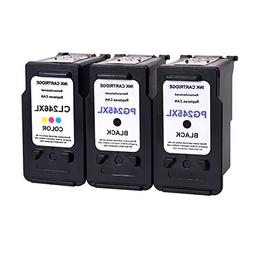 3/Pack 2x PG 245xl Black 1x CL 246xl Color for Canon Ink car
