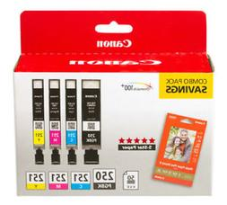 Canon PGI-250/CLI-251 Combo Pack Ink Cartridges
