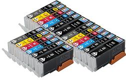 18 pack Skia Ink Cartridge Compatible for Canon CLI251XL PGI