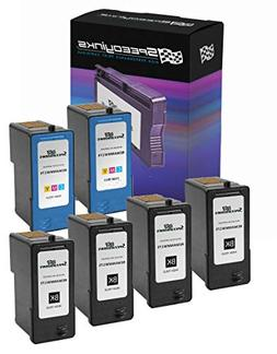 SpeedyInks Remanufactured Set of 6PK with 4 Dell MK992 / MW1