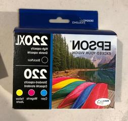 Epson T220XL-BCS Cartridge Ink, 4 Pack, Black, Cyan, Magenta